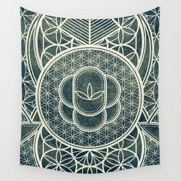 Ultra Sacred Geometry Dark Wall Tapestry