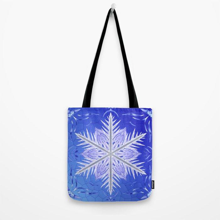 Snowflake Pattern - Bladed Sky Tote Bag