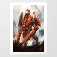 Mantis exterior bot Art Print