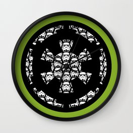 Imperial Cog Stormtroopers on Pea Green Wall Clock