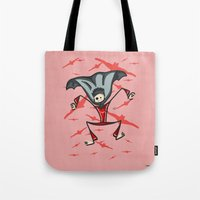 vampire diaries Tote Bags featuring Vampire by Giuseppe Lentini