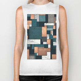 Random Pattern - Copper, Marble, and Blue Concrete Biker Tank