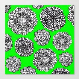 green mandala maze  Canvas Print