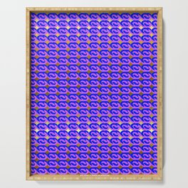 Modius Loop Blue/Lavender on Gold Serving Tray