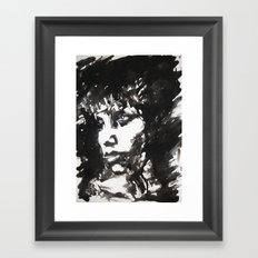 Retrato/Face Framed Art Print