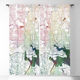 Baltimore Watercolor Map Art by Zouzounio Art Blackout Curtain