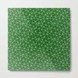 Dark Emerald Triangles Metal Print