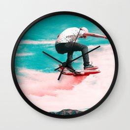 Skyboard - Julien Tabet - Photoshop Artwork Wall Clock