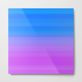 Blue Purple Gradient Stripes Metal Print