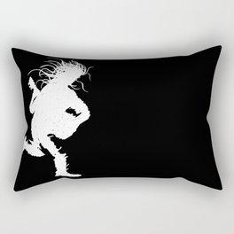 Live, White Foreground Rectangular Pillow