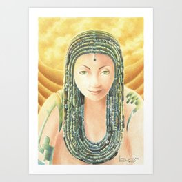 Portrait in the Desert Art Print