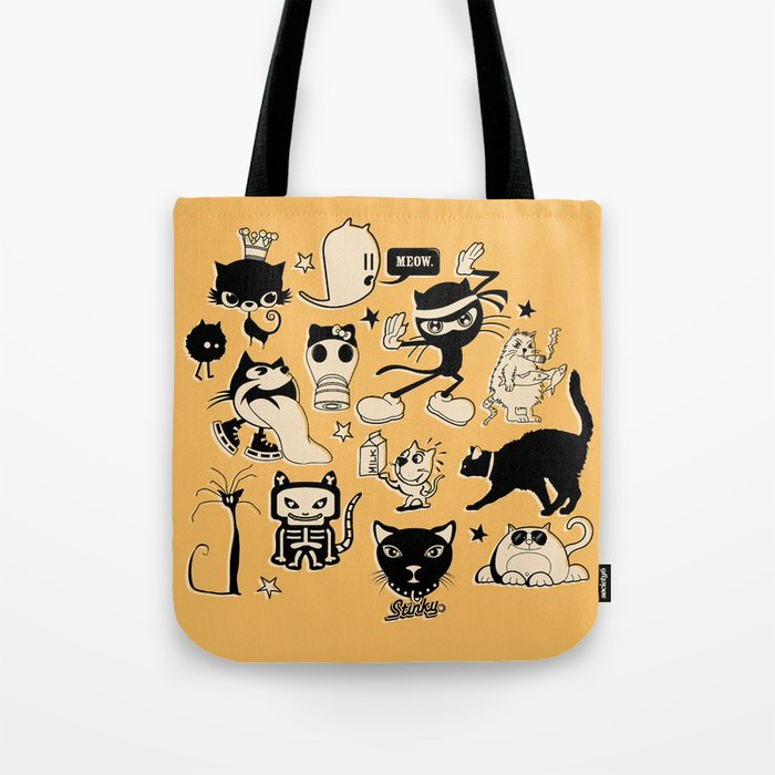 Cat Menagerie Tote Bag