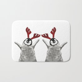 Christmas Baby Penguin Reindeer Bath Mat