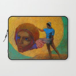 """Odilon Redon """"Figure Holding the Head of an Angel (also known as The Fall of Icarus)"""" Laptop Sleeve"""