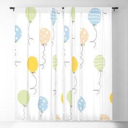 Birthday Balloons Decorations Blackout Curtain