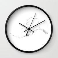 alaska Wall Clocks featuring Alaska by mrTidwell