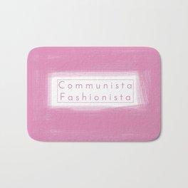 Communist Socialist Girl Bath Mat