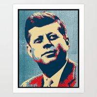 jfk Art Prints featuring JFK by Taylor Burleson