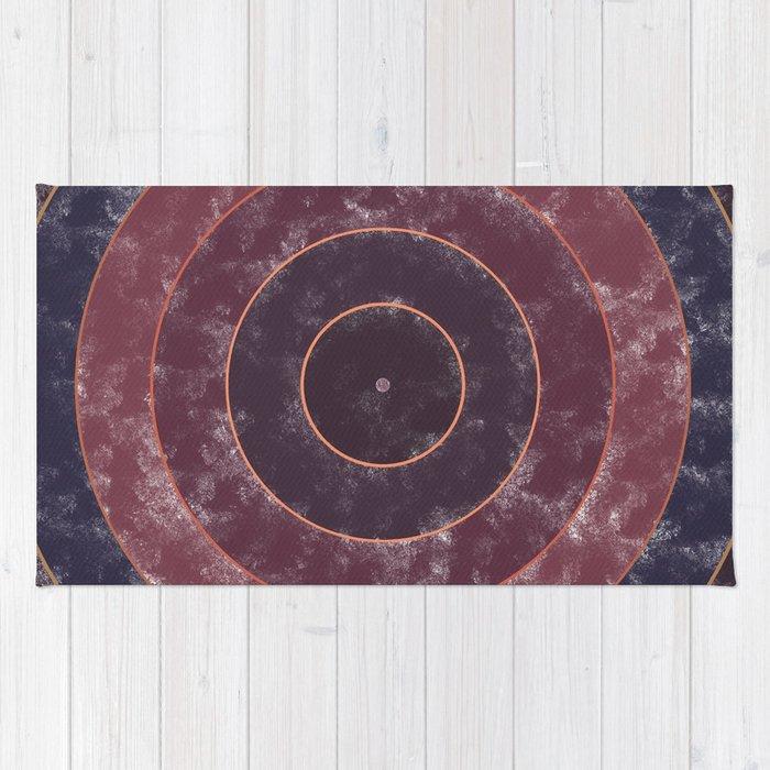 Circles Abstract Rug