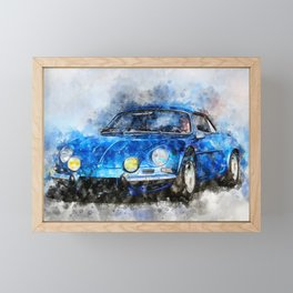 Alpine A110 Framed Mini Art Print