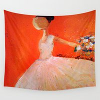 ballerina Wall Tapestries featuring Ballerina by Madison R. Leavelle