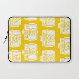 I Still Shoot Film Holga Logo - Reversed Yellow Laptop Sleeve