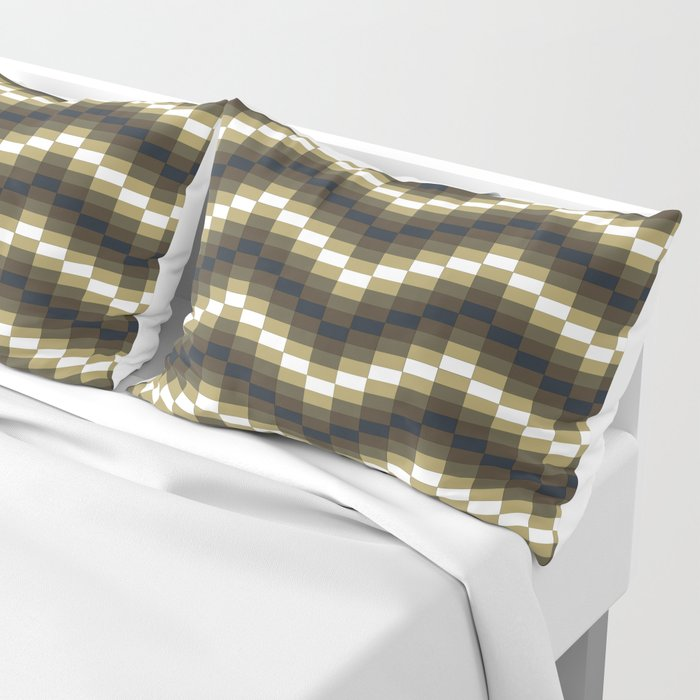 Block Wave Illustration Artwork Pillow Sham