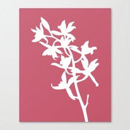 Orchid in Hot Pink - Original Floral Botanical Papercut Design Canvas Print