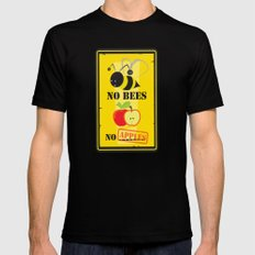 no bees,no apples Black MEDIUM Mens Fitted Tee