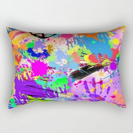 Psychodelic Hipppie Abstract Painting Rectangular Pillow