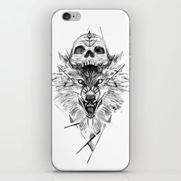Wolf And Skull iPhone Skin