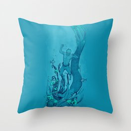 Into the Depths Throw Pillow
