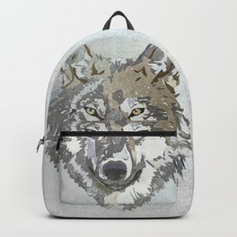 Wolf Head Illustration Backpack