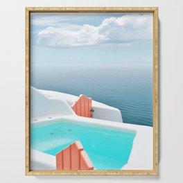 Santorini Pool Serving Tray