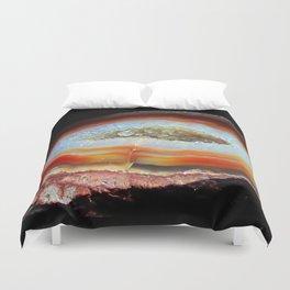 Amber Geode Duvet Cover