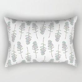 Eruca sativa (arugula) leaf Rectangular Pillow