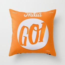 GOI GOA orange Throw Pillow