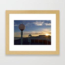 Bexhill Colonnade sunset Framed Art Print
