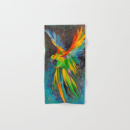 Parrot in flight Hand & Bath Towel