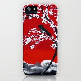 Crimson and Black iPhone Case