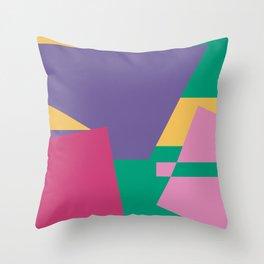 90s Colours Throw Pillow