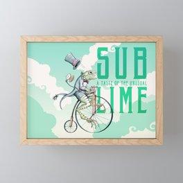 Sublime Bicycle Frog  Framed Mini Art Print