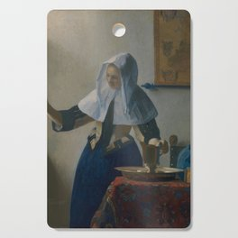 """Johannes Vermeer """"Young Woman with a Water Pitcher"""" Cutting Board"""