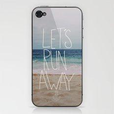 Let's Run Away: Sandy Beach, Hawaii iPhone & iPod Skin