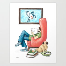 Epic Reader Art Print