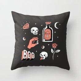 Skeleton Spooky Boye Throw Pillow