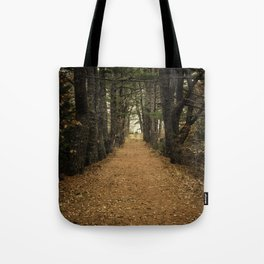 Pine Hill Path Tote Bag