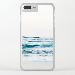 Sea water blue 8 Clear iPhone Case