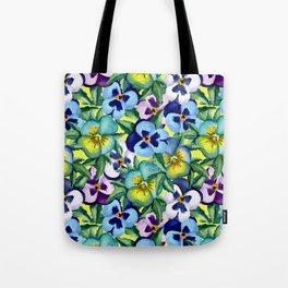 Pansy pattern Tote Bag