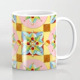 Heraldic Pink Polka Dots Coffee Mug